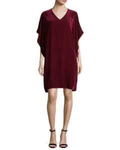 Eileen Fisher Easy Velvet Kimono-Sleeve Dress, $338