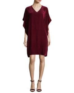 Eileen Fisher Easy Velvet Kimono-Sleeve Dress, $338