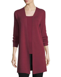 Eileen Fisher Ultrafine Merino Long Cardigan, $298