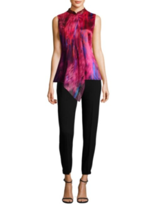 Elie Tahari Faya Electric Silk Blouse, Now $148.80